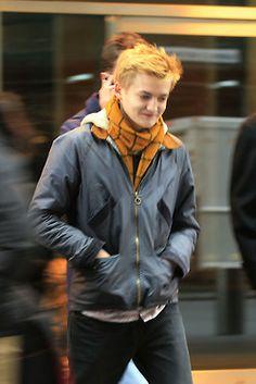 Jack Gleeson arrive at hotel, New York City - March 2014 Game Of Thrones 4, Jack Gleeson, King Joffrey, Harry Lloyd, Richard Madden, Beautiful Men, Robin, Bomber Jacket, Celebs