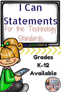 Do you desire a classroom in which students are being challenged to think for themselves and use 21st century vocabulary? Then grab a set of I Can Statements for the technology standards. K-12 available. $