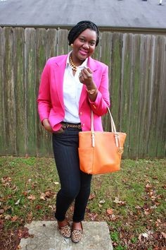Chioma's Evolution of Style: Shocking Pink + Pops of Leopard!