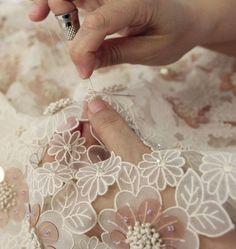 Delpozo embroidery detail pinned by Stine Linnemann Studio