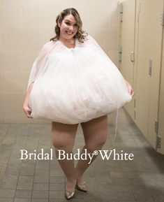 77bf5b612a3 Bridal Buddy is a sheer lightweight slip that helps brides bag up their  dress so that