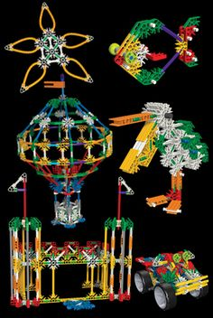 K'NEX Building-Sets - 50 Model Bldg Set These are amazing. Your kids can get… Model Building, Building Toys, Paper Roller Coaster, Build Math, All Block, Kids Blocks, Lego Instructions, Robotics, Craft Work