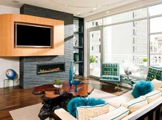 How To Put Tv Over Fireplace How To Decorate Living Room With