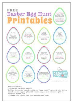 Easter egg hunt 10 indoor ideas for unpredictable weather easter easter egg hunt printables hide the clues and let the fun begin the perfect easter egg hunt ideas especially if you want a chocolate free easter negle Images