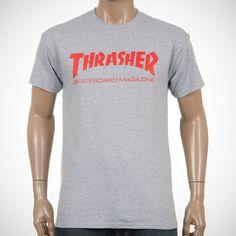 Thrasher Skate Mag Logo Tee Grey/Red