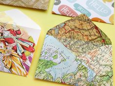 DIY: Recycled Paper Envelopes with Printable Template