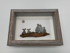 Excited to share this item from my shop: Pebble Art Family with dogs 5 by 7 framed Unique Birthday Gifts, Mom Birthday Gift, Pebble Pictures, Art Pictures, Driftwood Wedding, Pebble Art Family, Stone Art, Pebble Stone, Family Of Three