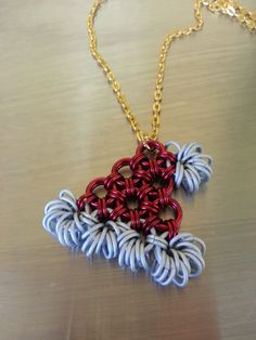 Chainmaille Santa Hat Necklace by Gen3studioS on Etsy, $8.00