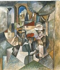 Painted by french artist Albert Gleizes, Water-based paint on paper affixed to fabric, currently at MNCARS – Museo Nacional Centro de Arte Reina Sofía – Spain. Cubist Artists, Cubism Art, Cubist Movement, Francis Picabia, Georges Braque, Art Academy, Art Database, Contemporary Paintings, Art Photography