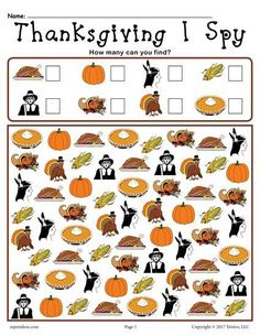 Thanksgiving I Spy – FREE Printable Thanksgiving Counting Worksheet! Thanksgiving I Spy – FREE Printable Thanksgiving Counting Worksheet! Thanksgiving Worksheets, Thanksgiving Activities For Kids, Thanksgiving Preschool, Fall Preschool, Thanksgiving Recipes, Thanksgiving Pictures, Thanksgiving Prayer, Thanksgiving 2017, Thanksgiving Appetizers