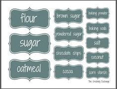 Organize a Baking Cabinet with Free Printable Pantry Labels – - Rangement-Küche Pantry Organization Labels, Pantry Labels, Jar Labels, Organization Hacks, Baking Organization, Labels Free, Spice Labels, Canning Labels, Organizing Ideas