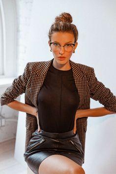 Miu Miu Eyeglasses for Women Glasses Outfit, Cute Glasses, Fashion Eye Glasses, Brown Glasses, Glasses Frames, Miu Miu, Eyeglasses For Women, Sunglasses Women, Satin Bluse