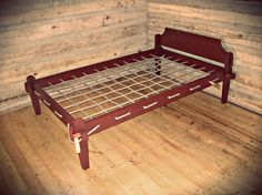 how to make a primitive rope bed frame ~ Grand room kitchen nook bench Primitive Bedroom, Primitive Furniture, Primitive Antiques, Antique Furniture, Nomadic Furniture, Bed Furniture, Medieval Bed, Farmhouse Architecture, Farmhouse Interior