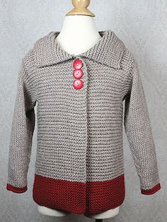 Soft simplicity - our Sawtelle cardigan for girls 2-12 is made entirely of knit sts and the only seaming is at the shoulders.