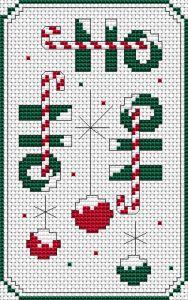Ho Ho Ho free cross stitch pattern