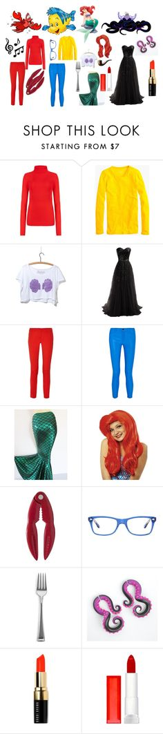 """Under the Sea"" by zebbers4 ❤ liked on Polyvore featuring Sebastian Professional, M&S Collection, J.Crew, Michael Kors, J Brand, Ray-Ban, Gorham, Bobbi Brown Cosmetics and Maybelline"