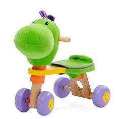 Years Children Ride On with Wheels Baby Wooden Walker Kids Dinosaur Trike/Xmas Gift Ride On Toys, Gross Motor Skills, Toddler Toys, Xmas Gifts, 3 Years, Children, Baby, Muscles, Wheels