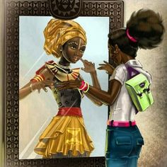 "YOUNG BLACK LADIES and MOTHERS, DON""T FORGET that your ancestors were queens and so are you! BE YOURSELF and BE BEAUTIFUL and WISE !!! ;-)"