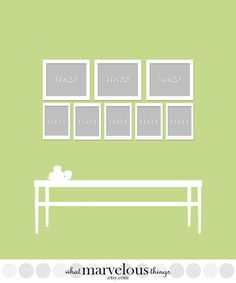 Gallery Wall Planner wall display template 10-pack | wall colors, walls and hanging frames