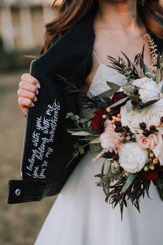 Perfect Wedding, Fall Wedding, Our Wedding, Dream Wedding, Wedding Goals, Wedding Attire, Style Moto, Motorcycle Wedding, Wedding Jacket