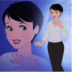 Disney-fied Mary Margaret from Once Upon a Time!   OH  MY GOSH!!!!!!!!!! MY LIFE IS MADE!!!