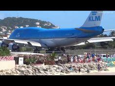 "Extreme Jet Blast on Maho Beach, St. Maarten, SXM: KLM 747 PH-BFB ""City of Bangkok"" departing to Amsterdam blowing some People away. Skiathos Beaches, Maho Beach St Maarten, Beach Watch, Jet Engine, How To Speak Spanish, Nice View, Good Movies, Amsterdam, Caribbean"