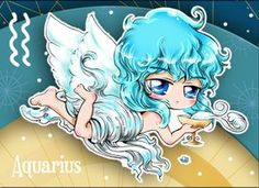 Chibi Starsigns - Aquarius by Fiorina-Artworks