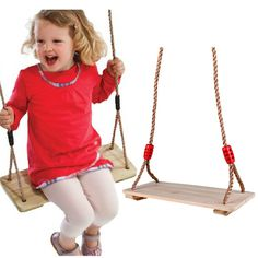 BOHS Kids Toy Swing Plate Birch Wood Children Sports Toys