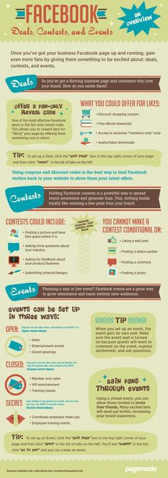Facebook Deals, Contests, and Events Tips [Infographic] Rockwell Catering and Events