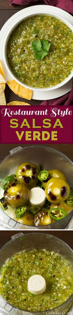 Salsa Verde - so much better and so much fresher than the stuff from the store! Absolutely love this salsa!! Delicious as enchilada sauce too!