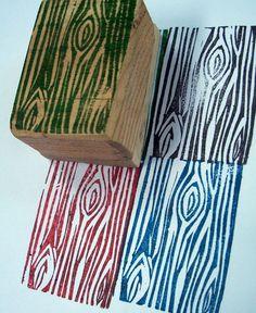 Wood grain stamp