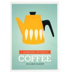Morning Coffee - Unframed print A3 - Matt Blatt