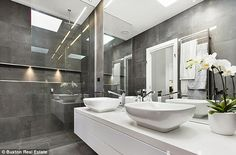 Sharp: The pair worked on the kitchen and bathroom spaces in the property expected to sell...