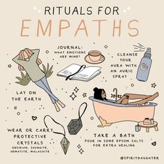 """Spirit Daughter on Instagram: """"Empath = a person highly sensitive to the energy around them. We are all empathic on some level. We are all interconnected and therefore…"""" Wiccan Spell Book, Witchcraft For Beginners, Witch Craft, Herbal Magic, Baby Witch, Modern Witch, Self Care Activities, Witch Aesthetic, Book Of Shadows"""