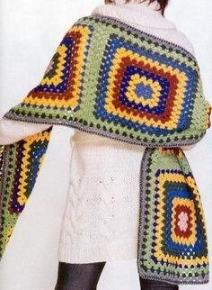 Stylish Easy Crochet: Crochet Shawl Wrap - Stylish & Easy - Crochet Granny Square