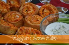Buffalo Chicken Bites Recipe Appetizers with crescent rolls, cooked chicken, hot sauce, shredded cheddar cheese, crumbled blue cheese Finger Food Appetizers, Appetizer Recipes, Snack Recipes, Cooking Recipes, Cheese Appetizers, Aperitivos Finger Food, Buffalo Chicken Bites, Buffalo Chicken Pinwheels, Little Muffins