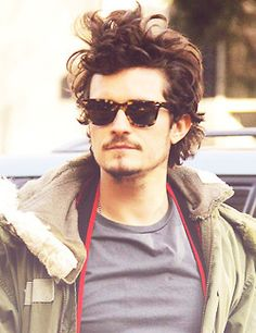 Orlando Bloom, what I look like when I get my hair cut and I forget to comb my hair