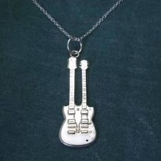 Jimmy Page doubleneck guitar necklace