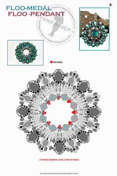 MATERIALE:  1 cerchio con diametro interno 3,2 cm  biconi 4 mm  sfaccettate 8 mm  sfaccettate 4 mm  delica 11/0  roca...