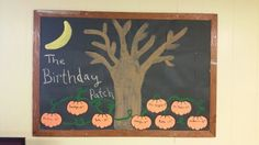 October Birthday Board October Birthday, Birthday Board, Bulletin Boards, Art Projects, Patches, Classroom, Teaching, Fall, Decor