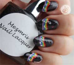 Ithinity Beauty - Nail Art Blog: Freehand Musical Notes On A Rainbow!