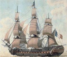 Bateau Pirate, Old Sailing Ships, Ship Of The Line, Ship Paintings, Wooden Ship, Navy Ships, Ship Art, Model Ships, Royal Navy