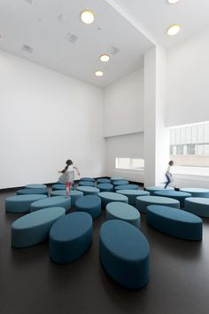 Documentation of the interior at Ørestad School and Library designed by Claus Bjarrum Arkitekter.