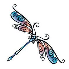 tribal dragonfly tattoo tribal