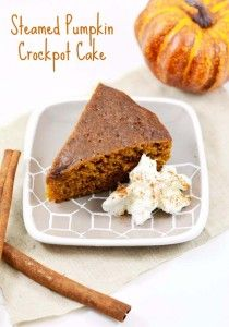 Easy Crock Pot Recipes You Have To Try Today | Best Easy Slow Cooker Recipe Ideas for the Crockpot Include beef stew, chili, chicken dinner dishes, soup and more | Steamed Pumpkin Crockpot Cake | http://diyjoy.com/crock-pot-recipes-slow-cooker-meals/