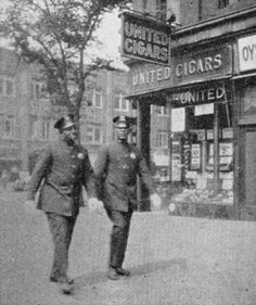 Negroes share in law enforcement. Negro policemen, Harlem, New York City From New York Public Library Digital Collections.
