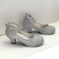 Sparkly Glitter Heels Flower Girls Birthday Gift Pageant Shoes silver – Glitter Shoe Co Silver Glitter Shoes, Sparkly Shoes, Bling Shoes, Glitter Heels, Birthday Gifts For Girls, Girl Birthday, Bridal Shoes, Wedding Shoes, Pageant Shoes