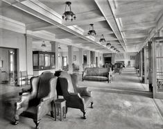 """beautiful old hotel: Circa 1910. """"The Concourse, Fort William Henry Hotel, Lake George, New York."""""""