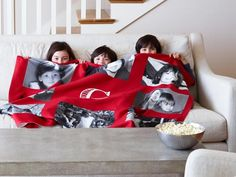 #homedecor Cozy up with a fleece #blanket of your favorite photos. Choose your own background and layout from Shutterfly.com starting at $54.99