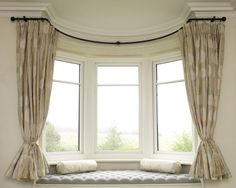 Curved Curtain Rod For Bay Window Home Design Ideas Master